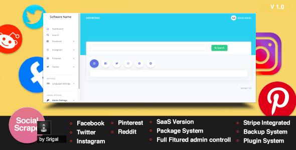 LitSpider - Social Media Scraping Tool