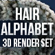 Hairy & Furry Alphabet - 3D Render Set - GraphicRiver Item for Sale
