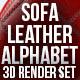 Sofa Leather Alphabet - GraphicRiver Item for Sale