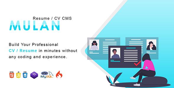 Mulan - Resume / CV CMS Download