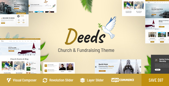 Deeds - Best Responsive Nonprofit Church WordPress Theme