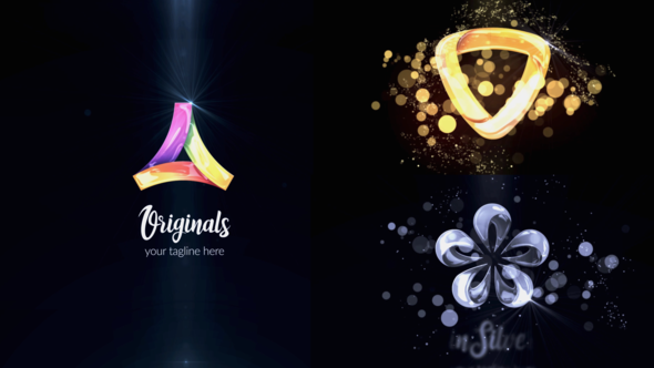Glossy Silver Gold Logo Reveal