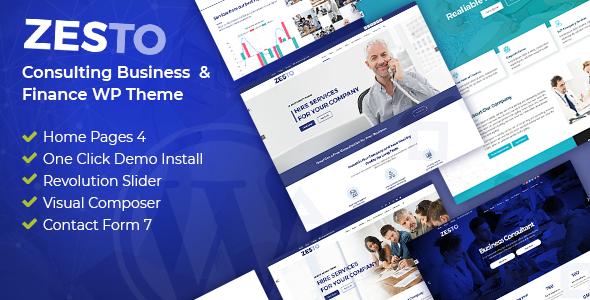 Zesto - Agency Corporate WordPress Theme