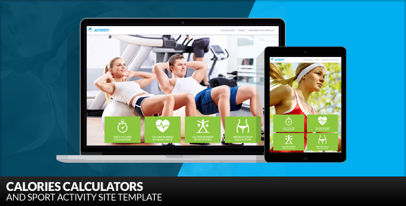 Activity - Calories Calculators and Sport WordPress Theme