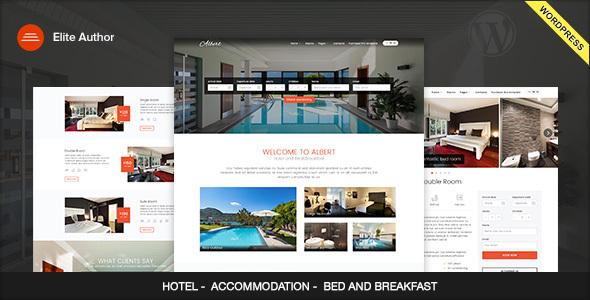 Albert - Hotel and Bed&Breakfast WordPress Theme