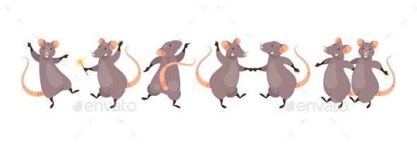 Dancing Rats Vector