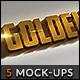 5 Gold Mock-ups - GraphicRiver Item for Sale