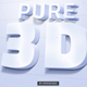 Pure White 3D Text/ Logo Mock up - GraphicRiver Item for Sale