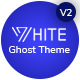 White - Minimal and creative ghost blogging theme - ThemeForest Item for Sale