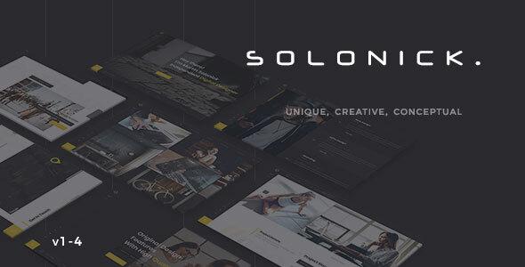 Solonick – Creative Responsive Personal Portfolio