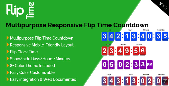 Flip Time - Multipurpose Responsive Flip Time Countdown