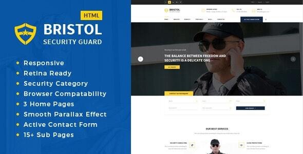 Bristol - Security Services HTML Template
