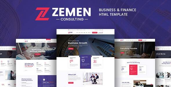 Zemen – Business Consulting and Professional Services HTML Template
