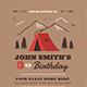 Camping Birthdays Invitation - GraphicRiver Item for Sale