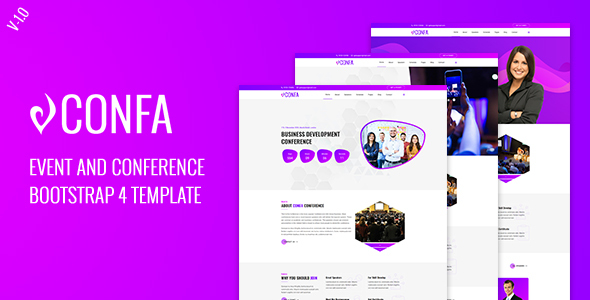 Confa - Event And Conference bootstrap 4 template