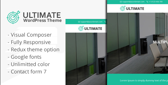 Ultimate - Responsive Multiple Purpose WordPress Theme