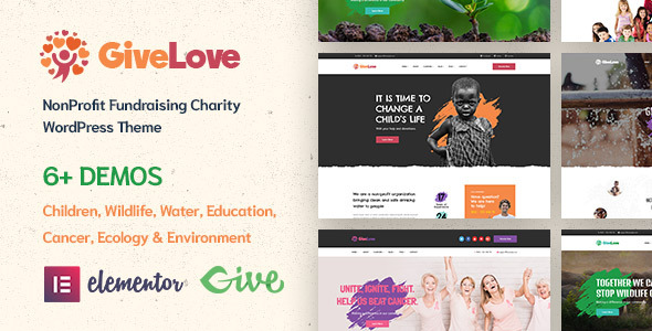 Givelove | Charity & Crowdfunding WordPress Theme
