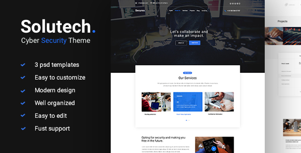 Solutech - Cyber Security PSD