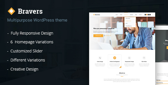 Bravers - Responsive Multiple Purpose WordPress Theme