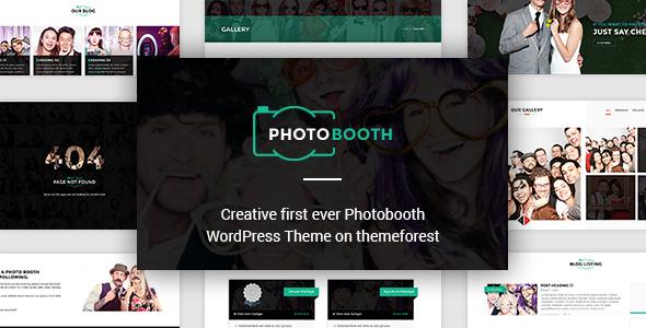 PhotoBooth - Photography Portfolio WordPress Theme
