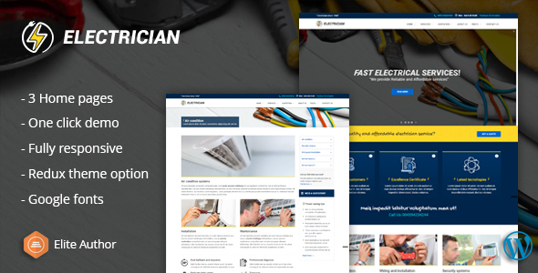 Electrician - Electrical And Repair Service WordPress Theme