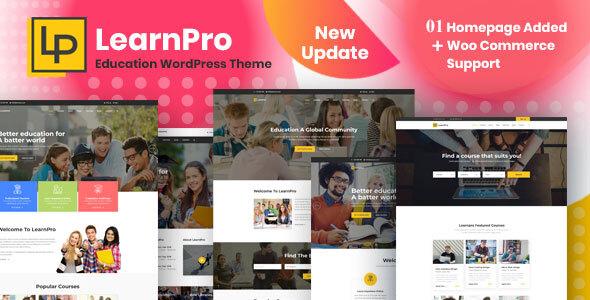 LearnPro - Online Course Education WordPress Theme