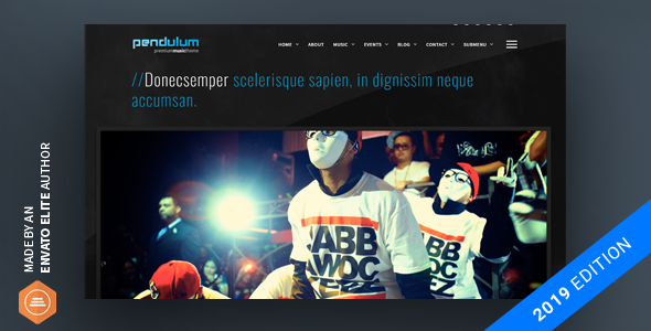 Pendulum - Beat Producers, DJs & Events Theme for WordPress