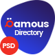 Qamous - Directory & Listing PSD Template - ThemeForest Item for Sale