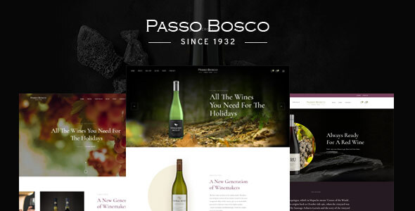 Passo Bosco - Wine & Winery WordPress Theme