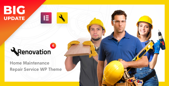 Renovation - Repair Service, Home Maintenance Elementor WP Theme