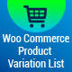 WooCommerce Product Variation List - CodeCanyon Item for Sale
