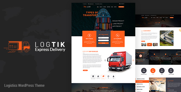 Logtik | Logistics, Cargo and Transportation WordPress Theme