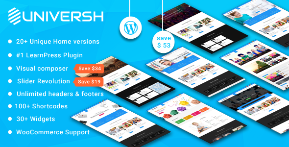 Universh -Material Education, Event, News, Learning Centre & Kid School MultiPurpose WordPress Theme