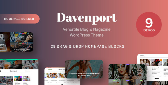 Davenport - Responsive Versatile Blog and Magazine WordPress Theme