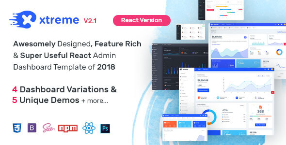 React Templates from ThemeForest