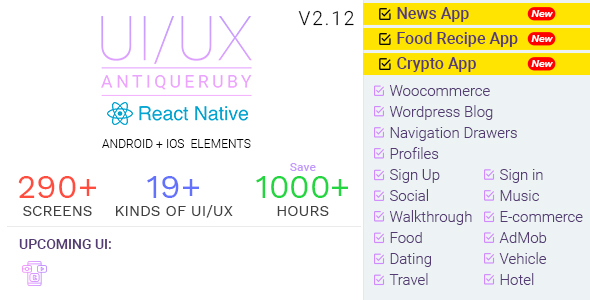 Antiqueruby React Native Material Design UI Components