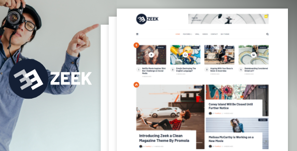 Zeek - A Clean WordPress Blogging / Magazine Theme
