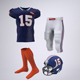 American Football Player's Uniform Mock-Up - GraphicRiver Item for Sale