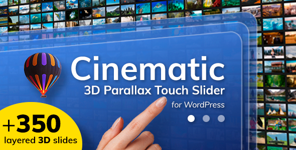 Cinematic 3D Parallax Touch Slider for WordPress v1.2