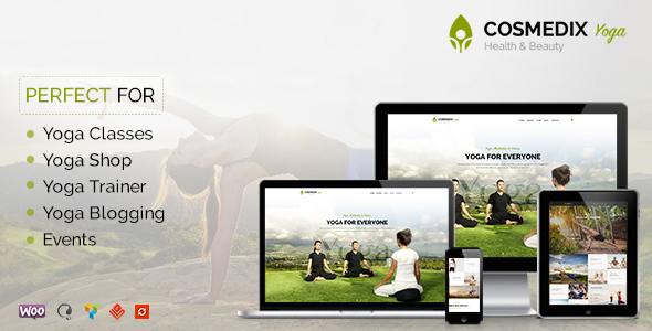 Cosmedix - Health Beauty & Yoga WordPress Theme