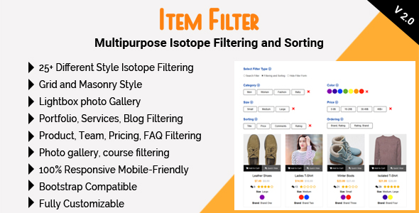 Filterable Portfolio Plugins, Code & Scripts from CodeCanyon