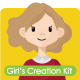 Girl's Mascot Creation Kit - GraphicRiver Item for Sale