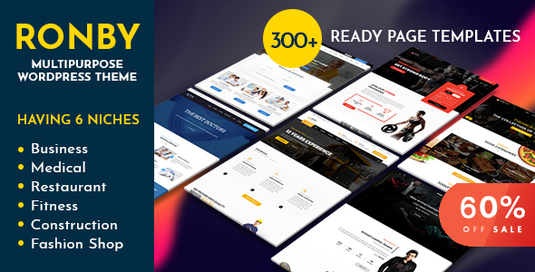 Ronby | 6 Niche Business Multi-Purpose WordPress Theme