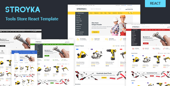 Stroyka - Tools Store React eCommerce Template