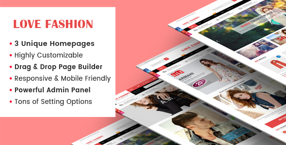 LoveFashion - Responsive Multipurpose Sections Drag & Drop Builder Shopify Theme