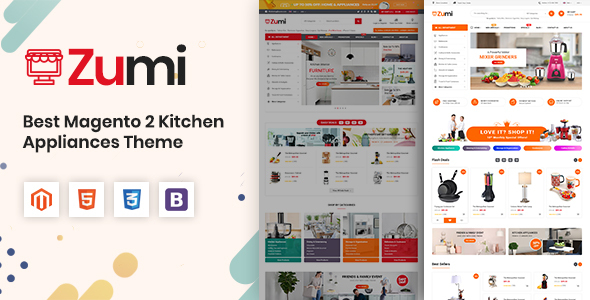 Zumi - Flexible and Modern Kitchen Appliance Magento 2 Theme