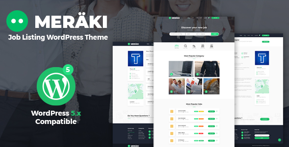Meraki - Job Board WordPress Theme