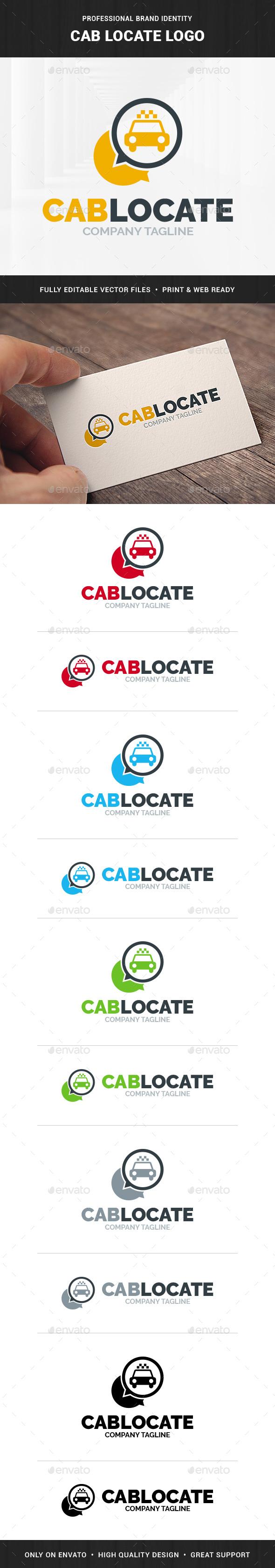 Cab Locate Logo Template