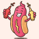 Hot Dog Mascot - GraphicRiver Item for Sale
