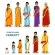 East People Generations at Different Ages Isolated - GraphicRiver Item for Sale